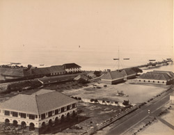View of the Pier, etc. from the Lighthouse [Alleppey].